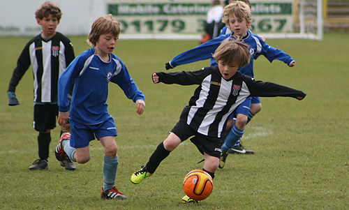 Bath City Youth u7 clash with Larkhall
